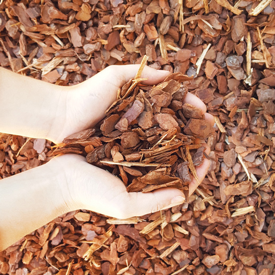 Sydney's Best Pine Bark soft fall--we bag mulch and this is one of our most popular types.